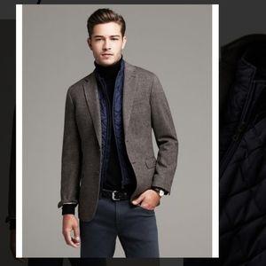 Banana Republic Tailored-fit Herringbone blazer